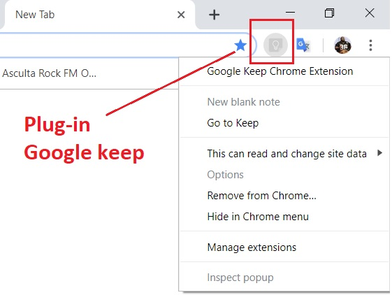 plugin google keep - Se deschid greu paginile de internet?